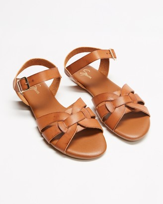 Spurr Women's Brown Flat Sandals - Tinah Sandals - Size 5 at The Iconic