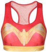 GuPoBoU168 Womens Wonder Super Heroine Printed Short Sports Bra L/XL