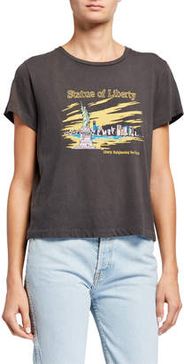 RE/DONE Statue Of Liberty Classic Graphic Tee