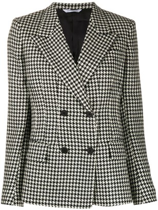 Tonello Houndstooth Double-Breased Jacket
