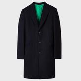 Paul Smith Men's Navy 'A Coat To Travel In' Wool Epsom Coat