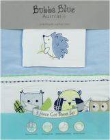 Bubba Blue Baby Owl Blue Cot Sheet Set
