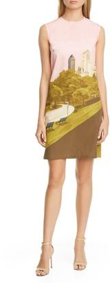 Lela Rose Park Print Poplin Sheath Dress