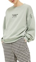 Topshop Women's You Make Me Wonder Puff Sweatshirt