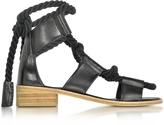 Pierre Hardy Azur Black Leather Sandal