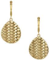 The Sak Basketweave Drop Earrings