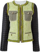 Fay padded sleeve tweed jacket