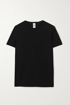 RE/DONE 70s Loose Cotton-blend Jersey T-shirt - Black