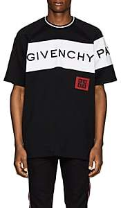 Givenchy Men's Logo-Embroidered Cotton T-Shirt - Black