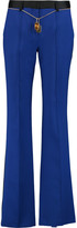 ADAM by Adam Lippes Belted silk-crepe straight-leg pants