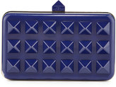 Valentino Minaudiere Studded Hard Shell Bag, Blue