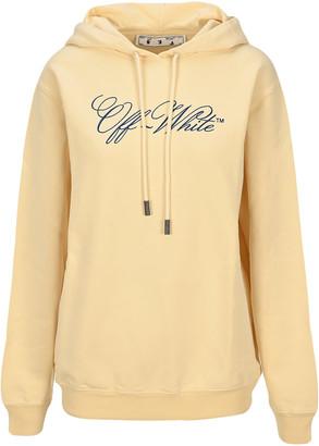 Off-White Off White Italics Print Logo Hoodie