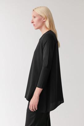 Cos Silk Panel Handkerchief Top