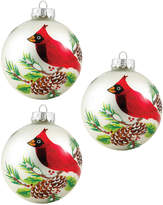 Kurt Adler Cardinal Decorative Balls 3Pc Set