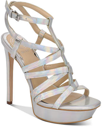 GUESS Women Eleri Strappy Platform Dress Sandals Women Shoes