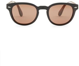 Oliver Peoples Sheldrake Leather 47MM Sunglasses