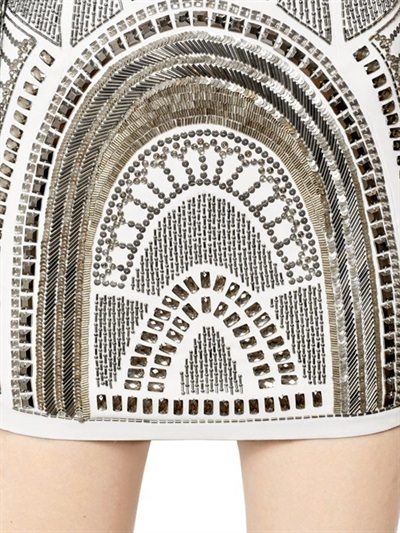 John Richmond Embroidered Viscose Cady Dress