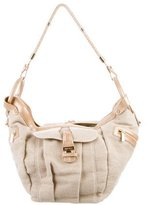 Jimmy Choo Leather-Trimmed Hobo