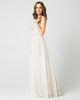 Le Château Jewel Embellished Lace & Chiffon Gown