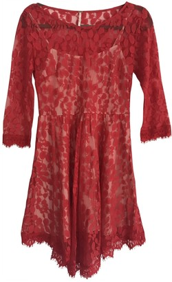 Free People Red Lace Dresses