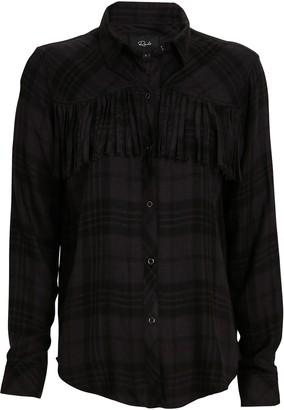 Rails Dolly Fringed Plaid Button-Down Shirt