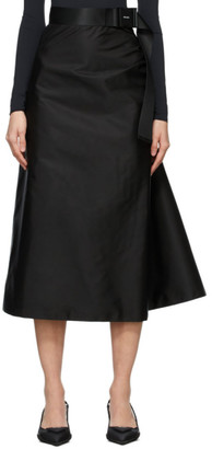 Prada Black Gabardine Re-Nylon Skirt