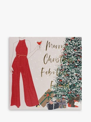 Belly Button Designs Fab Friend Lady Christmas Card