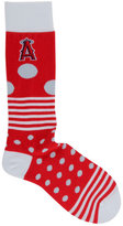 For Bare Feet Los Angeles Angels of Anaheim Dots and Stripes 538 Socks