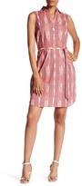 Foxcroft Sleeveless Ikat Stripe Dress