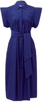 Max Mara Lazzaro Shirt Dress - Womens - Blue