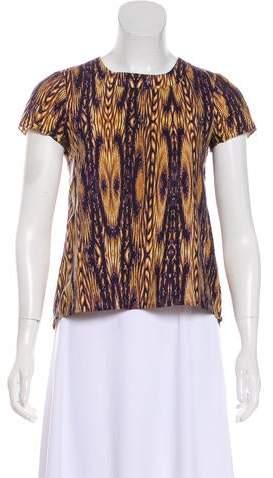 Gryphon Short Sleeve Printed Top