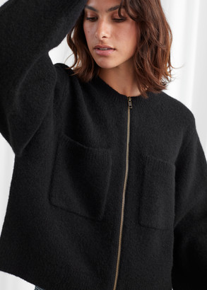 And other stories Knitted Zip Cardigan