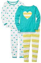 Carter's Carter's® 4-pc. Heart & Striped Pajamas - Girls 2t-5t