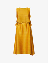 Thumbnail for your product : Pleats Please Issey Miyake Dive boat-neck knitted jersey midi dress
