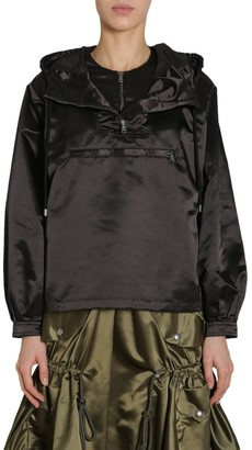 Moschino Tulle Detail Hooded Anorak