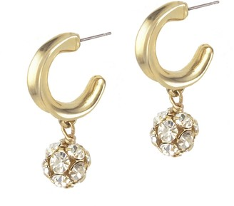 Biko Crystalline Hoops Gold