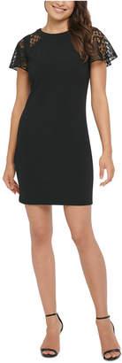 Kensie Lace-Sleeve Sheath Dress