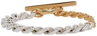 Bottega Veneta Silver and Gold Chain Bracelet