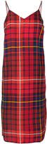 Tommy Hilfiger plaid fitted midi-dress