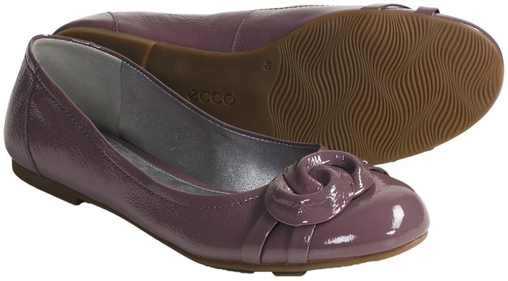 Ecco Goya Flats - Patent Leather Slip-Ons (For Women)