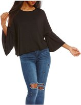 Living Doll Ruffle Dolman-Sleeve Skimmer Top