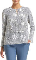 Sportscraft PURCELL STRIPE FLORAL BLOUSE