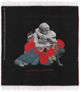 Valentino x UNDERCOVER wool-blend scarf