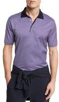 Ermenegildo Zegna Micro-Birdseye Polo Shirt, Purple