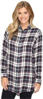 Jag Jeans Magnolia Tunic in Yarn-Dye Rayon Plaid