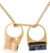 Chloé Gold Double Ring Pendant Bettina Necklace