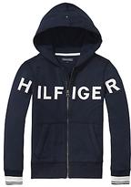Tommy Hilfiger Boys' Letter Zip Through Hoodie, Navy