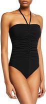 Karla Colletto Joana Bandeau One-Piece Swimsuit with Shelf Bra & Ties