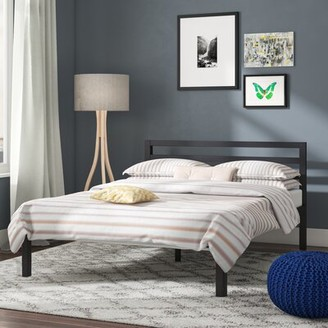 Alwyn Home Mccauley Wood Slat Bed Frame with Headboard Size: Full
