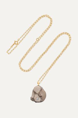 Cvc Stones Create 18-karat Gold, Stone And Diamond Necklace - one size